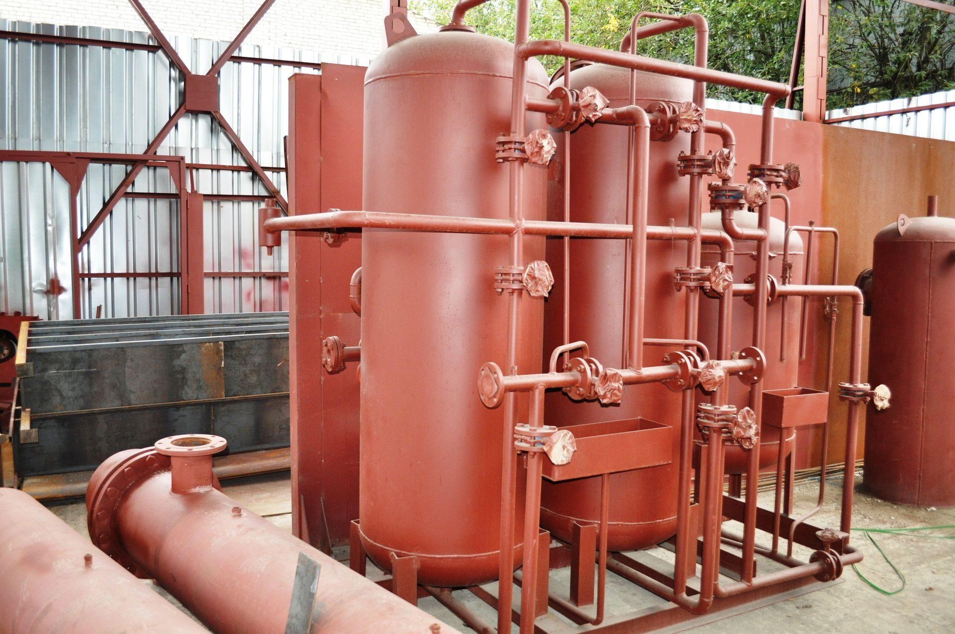 Схема водоподготовительной установки с na-катионитовым фильтром